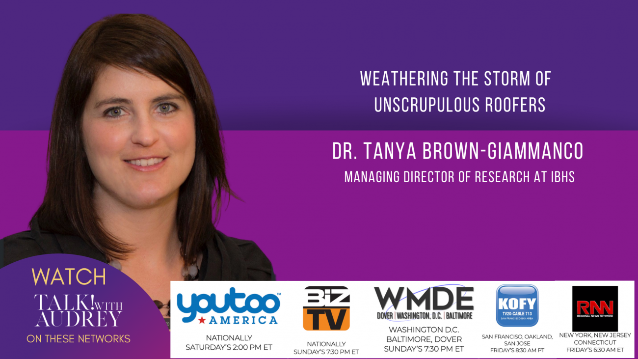 Dr. Tanya Brown Giammanco-Weathering The Storm of Unscrupulous Roofers- TALK! with AUDREY TV