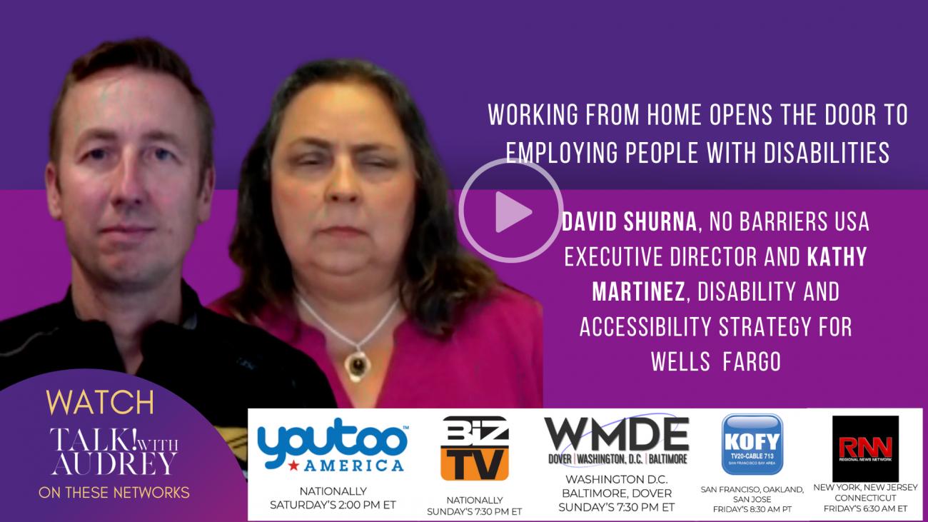 David Shurna and Kathy Martinez – TALK! with AUDREY TV
