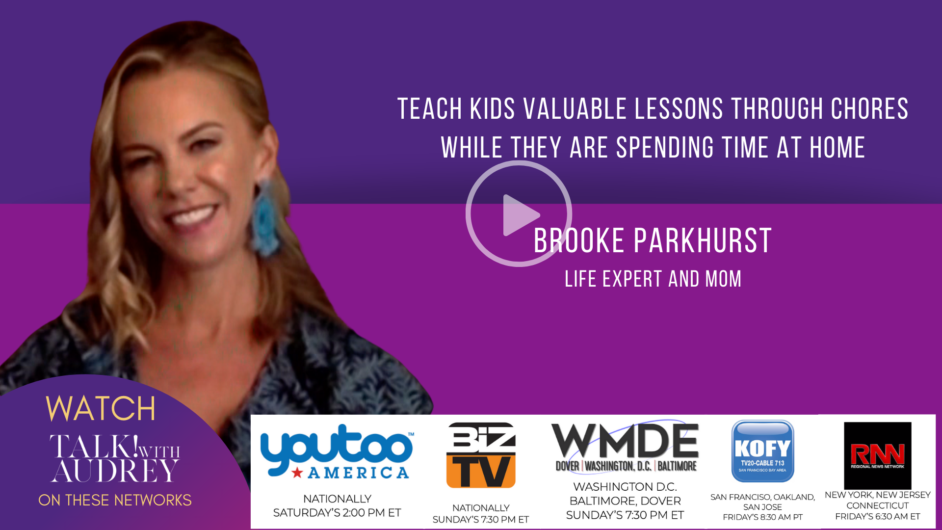 Teach Kids Valuable Lessons Through Chores While They are Spending Time at Home – TALK! with AUDREY