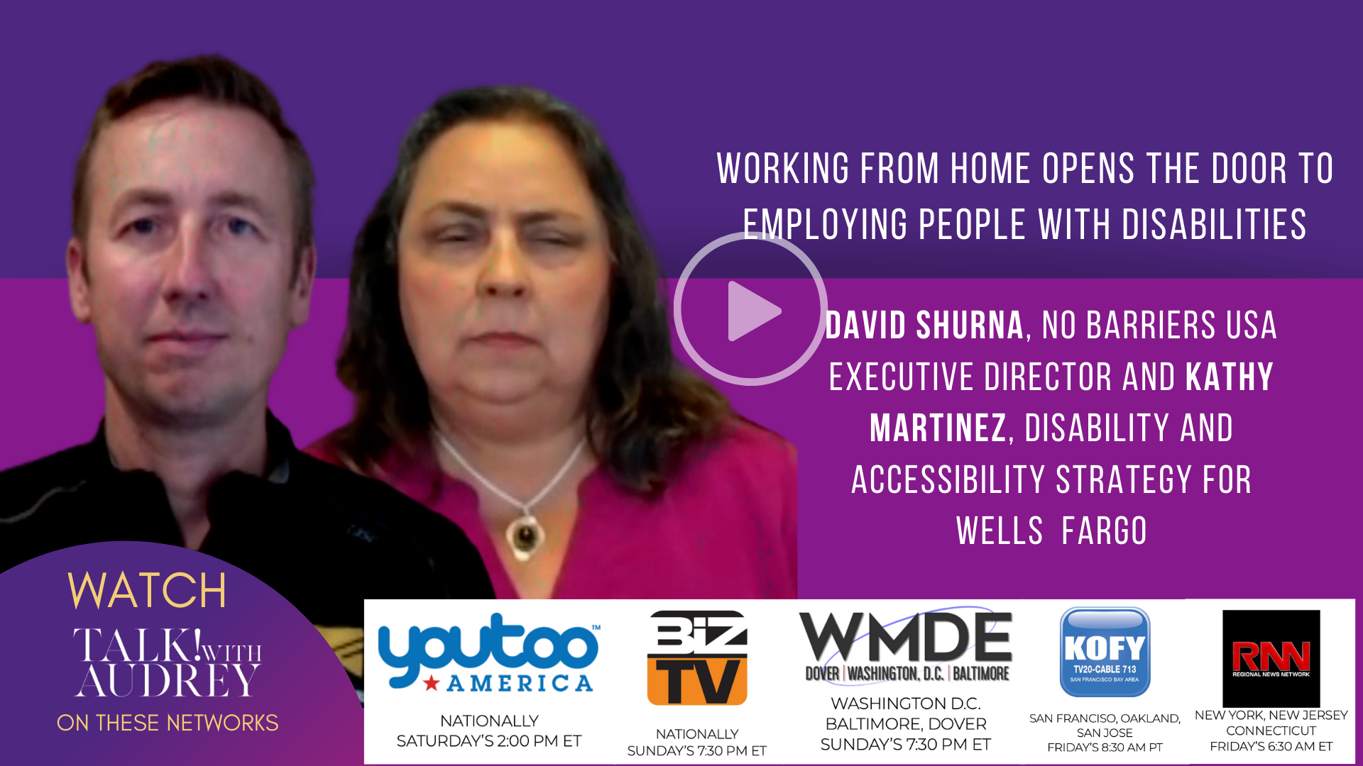 Working From Home Opens the Door to Employing People With Disabilities – TALK! with AUDREY TV