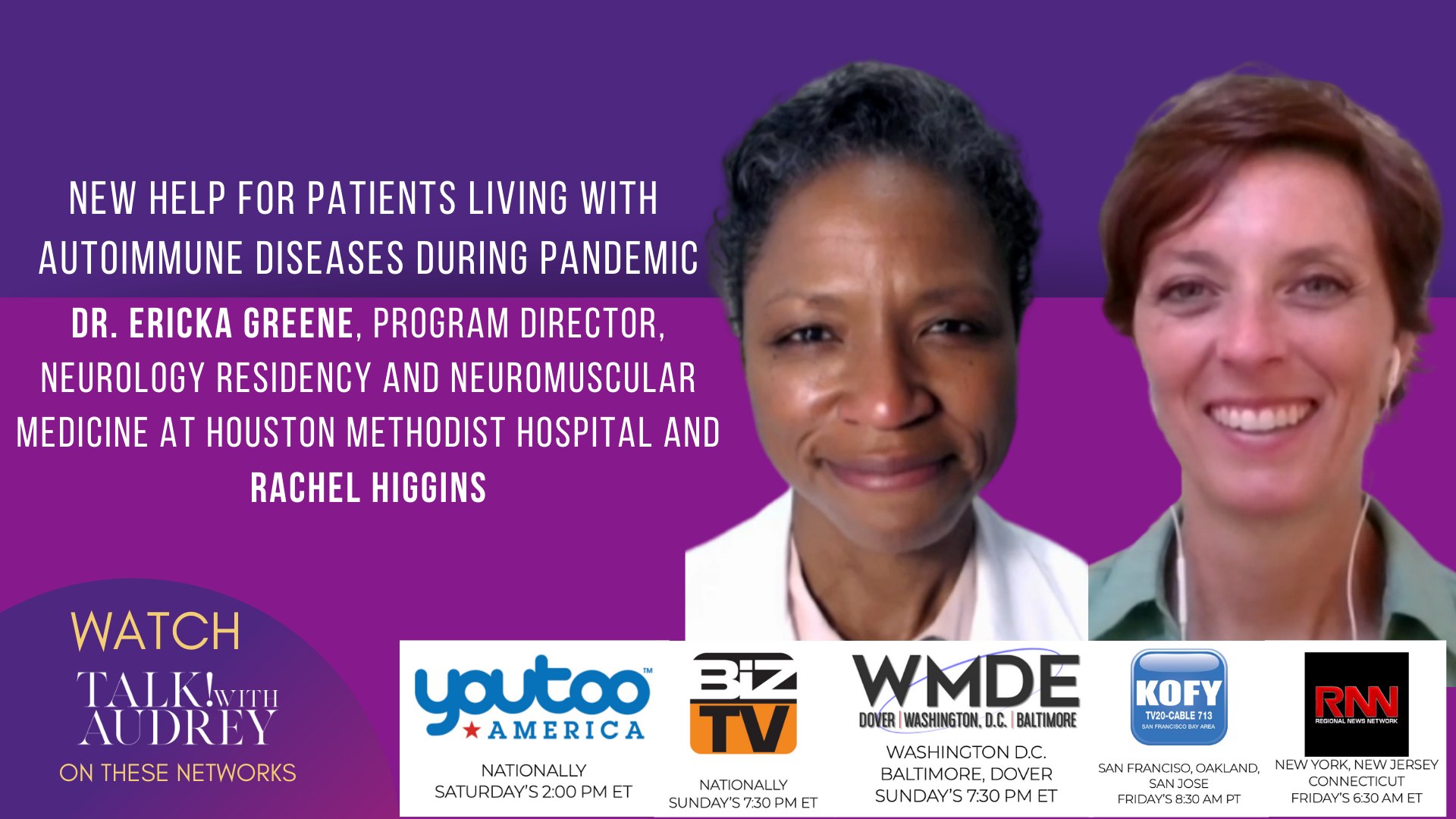New Help For Patient Living with Autoimmune Diseases During Pandemic – TALK! with AUDREY TV