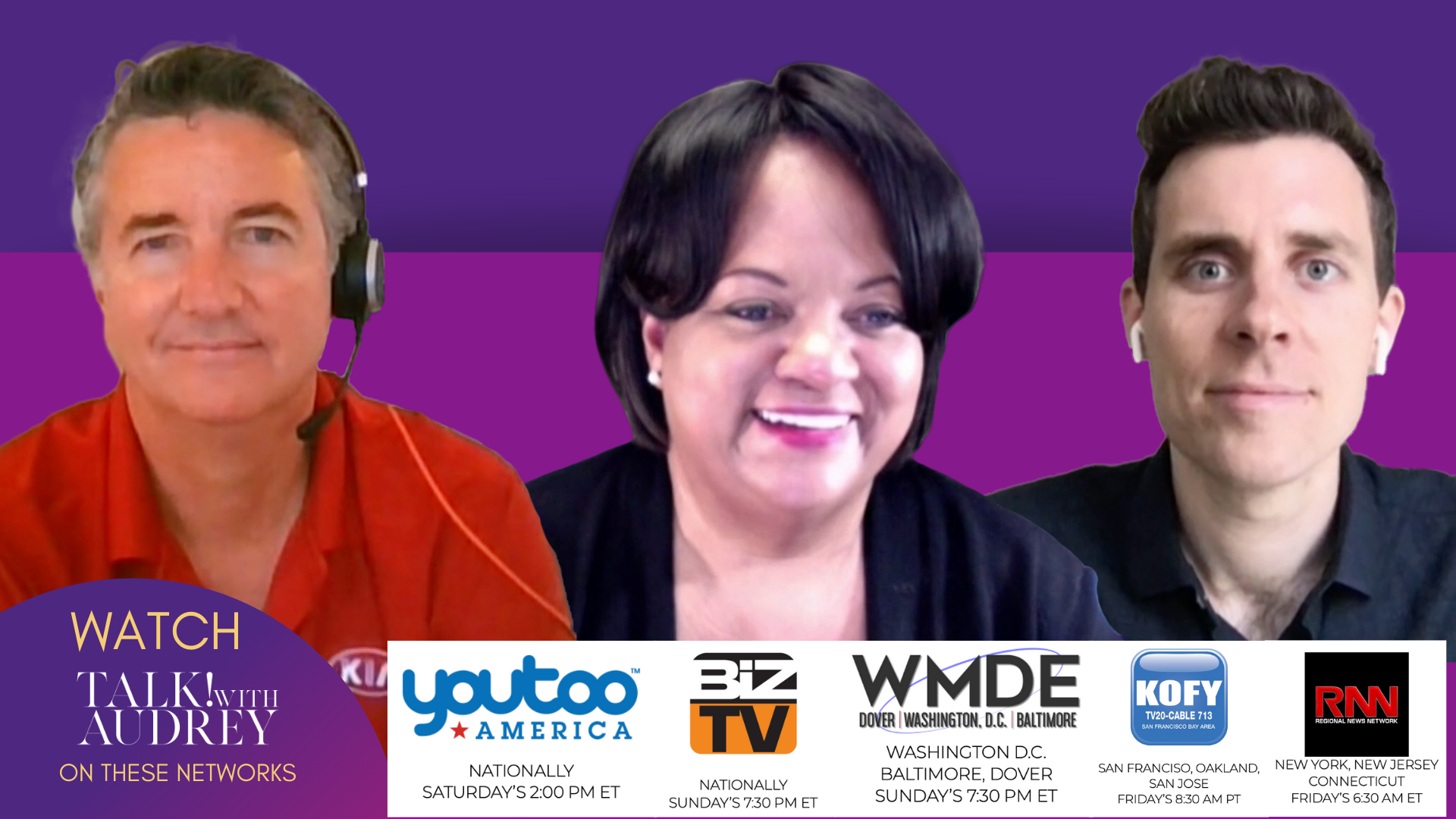May 1-3, 2020 – TALK! with AUDREY TV