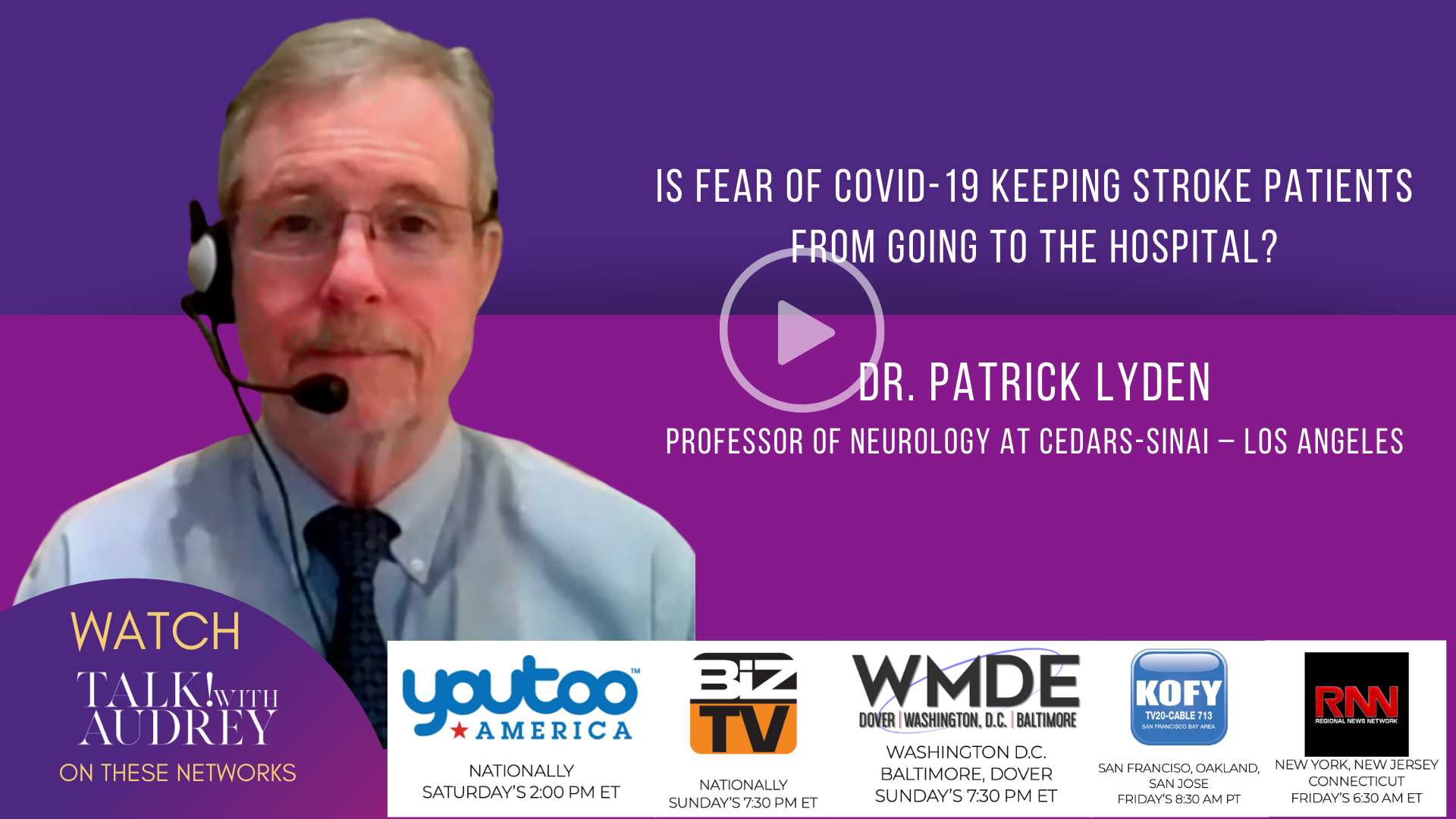 Is Fear of COVID-19 Keeping Stroke Patients from Going to the Hospital? – TALK! with AUDREY TV